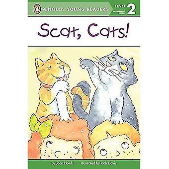 Scat koty! (Puffin łatwy wobec przeczytać)