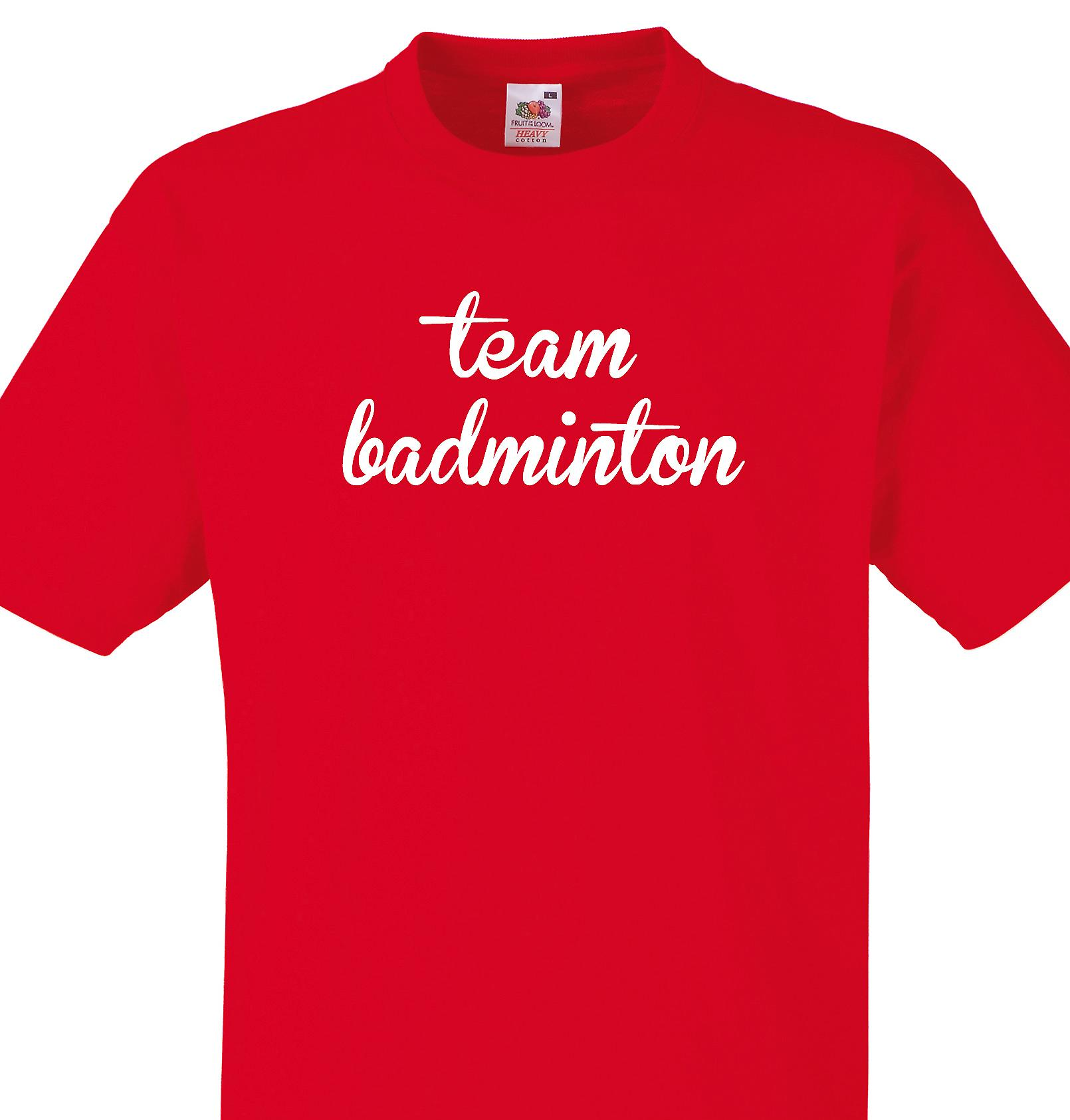 Team Badminton Red T shirt