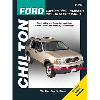 Chilton Ford Explorer & kvicksilver Mountaineer reparation Manual 2002-10: Täcker amerikanska och kanadensiska modeller av Ford Explorer och kvicksilver Mountaineer
