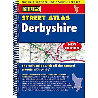 Philip's Street Atlas Derbyshire: Spiral Edition