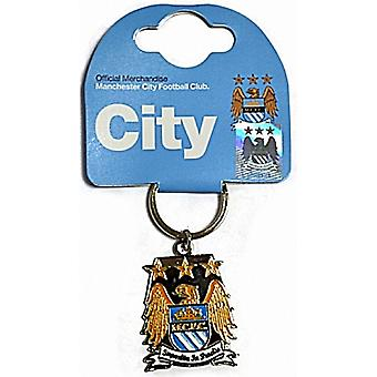 Manchester City FC herb metal / Brelok do kluczy (ro)