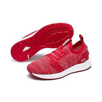PUMA NRGY Neko engineer knit WNS ladies low boot sneaker athletic shoes of hibiscus white