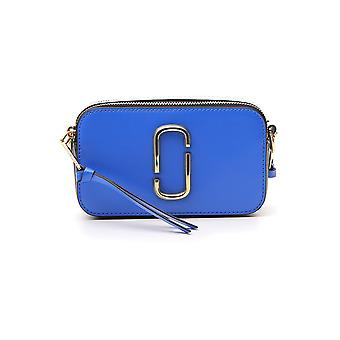 Marc Jacobs Snapshot Blue Leather Shoulder Bag