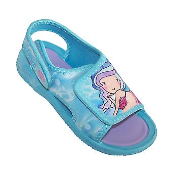 Mädchen Blau Meerjungfrau casual Sandalen