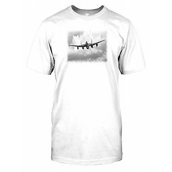 Royal Air Force Avro Lancaster I  Flying in the Sky Mens T Shirt