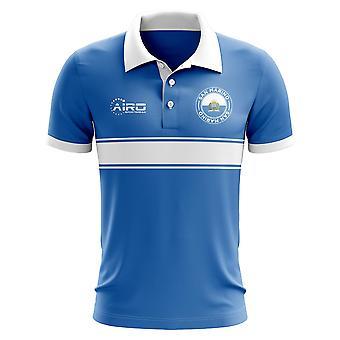 San Marino koncepcja koszula Polo z paskiem (niebieski)