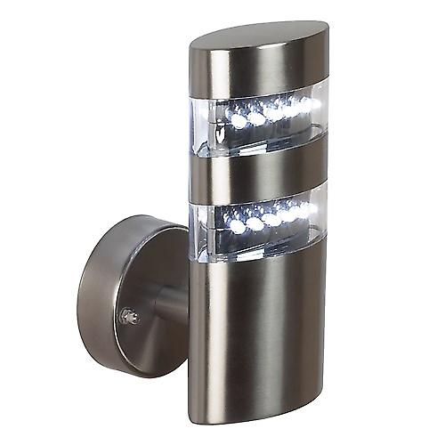Endon YG-4000-SS Modern Oval Stainless Steel Outdoor Led Wall Lantern