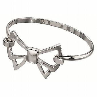 Fiorelli Ladies Silvertone tagliato Bow Bangle