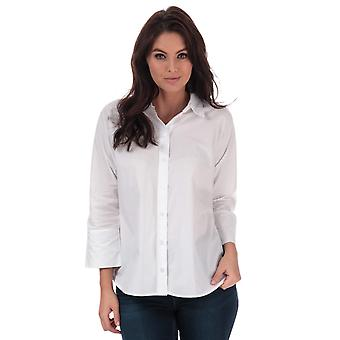 Womens Only Grace Cotton Shirt In White