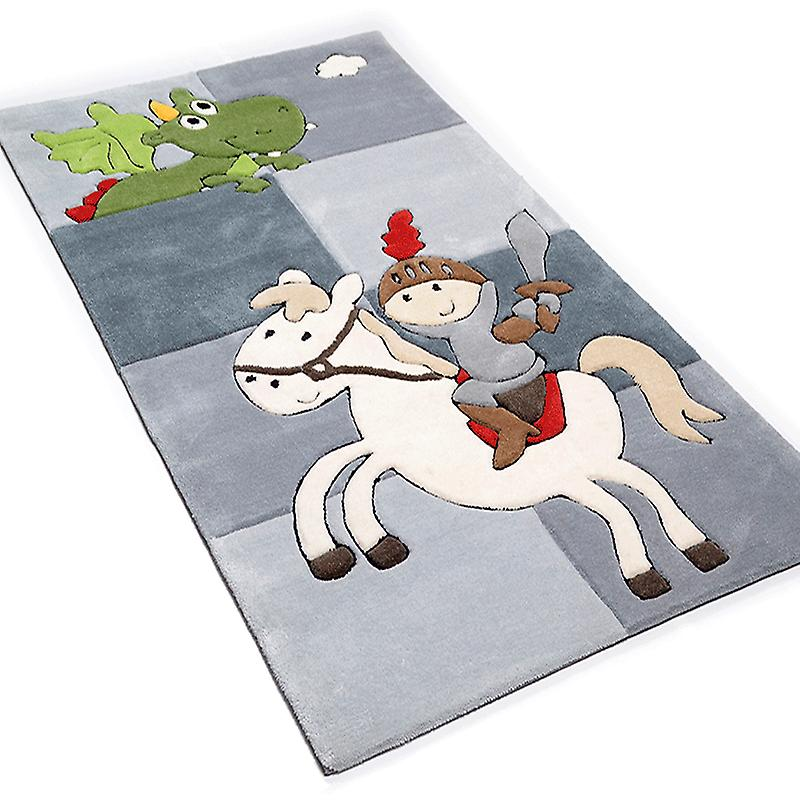 Rugs - Children\'s Grey Knight Dragon - 3397
