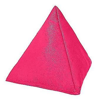 Rosa algodón triangular malabarismo bolsa de frijoles para jugar al aire libre