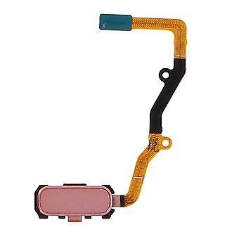 Home button + Flat Cable for Samsung Galaxy S7 Edge - Rose gold