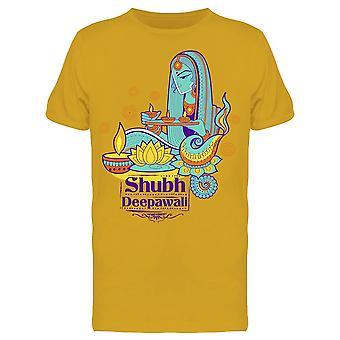 Shubh Deepawali Tee Men's -Image by Shutterstock