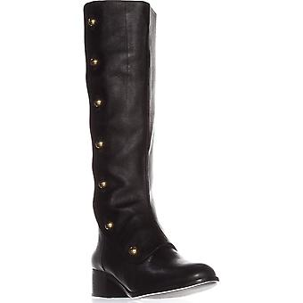 Michael Kors Womens Maisie Leather Closed Toe Knee High Fashion Boots