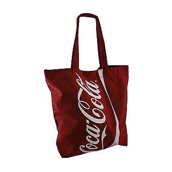 Officially Licensed Large Red Coca-Cola Logo Canvas Tote Bag