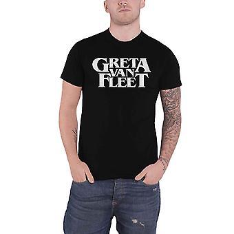 Greta van Fleet T shirt band logo van de vuren nieuwe officiële mens zwart