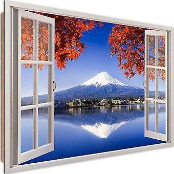 Deco Panel, window - Mount Fuji