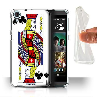 STUFF4 Gel/TPU Case/Cover for HTC Desire 820s Dual/Jack of Clubs/Playing Cards