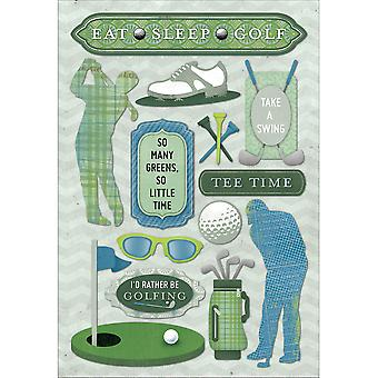 Golf Cardstock Stickers 5.5