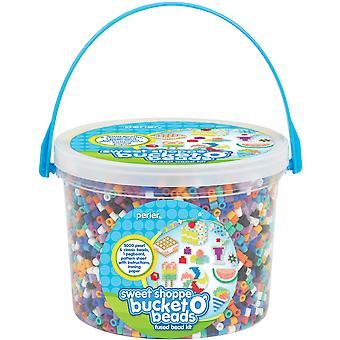 Perler Fun Fusion Fuse Bead Activity Bucket Sweet Shoppe 80 42882