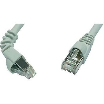 RJ49 Networks Cable CAT 6A S/FTP 2 m Grey Flame-retardant, incl. detent Telegärtner