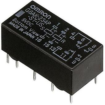PCB relays 5 Vdc 2 A 2 change-overs Omron G6AK-274