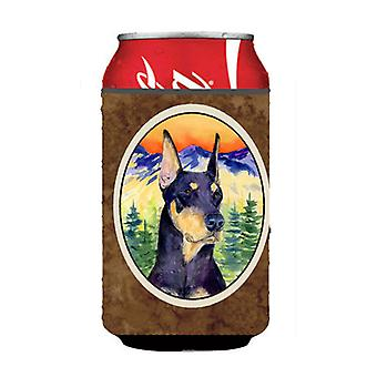Doberman Can or Bottle Beverage Insulator Hugger