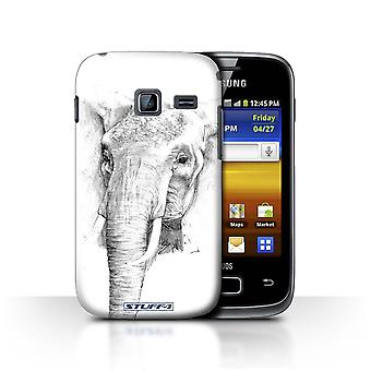 STUFF4 Case/Cover for Samsung Galaxy Y Duos/S6102/Elephant/Sketch Drawing