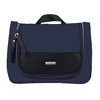 Bugatti washbag toiletry bag make-up bag to hang blue 3829