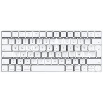 Apple Magic Keyboard Deutsch Bluetooth keyboard Silver, White Rechargeable