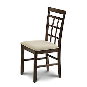 Bellow Mahogany Padded Chair