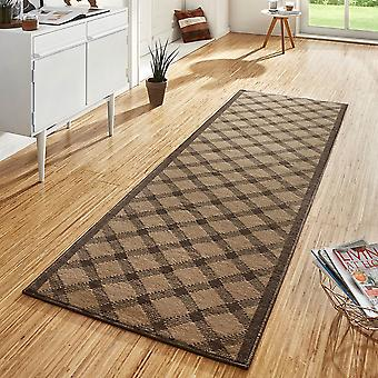 Design velour carpet runners bridge Grand Brown
