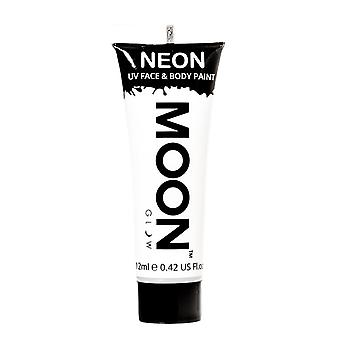 Maan gloed - 12ml Neon UV gezicht & Body Paint - wit