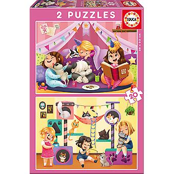 Educa Puzzle 2X20 Fiesta Pijamas (Toys , Preschool , Puzzles And Blocs)