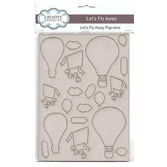 Creative Expressions Pop-ems Greyboard Diecut Shapes Let's Fly Away*^^