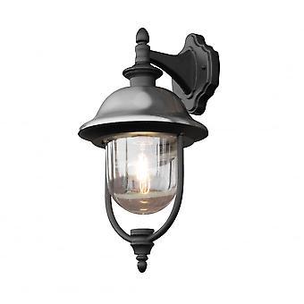Konstsmide Parme noir et acier traditionnel jardin lanterne à la baisse