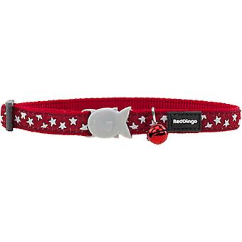 Red Dingo Cat Collar Red White Star Rdstyle Adj 0-32Cm