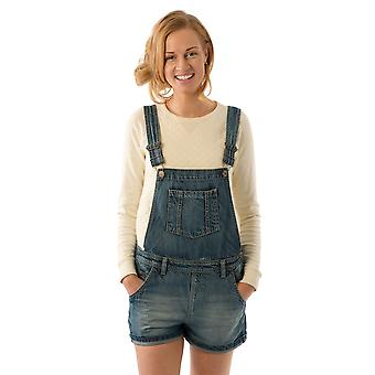 USKEES ANNA Oversized Dungaree Shorts Vintage Wash Loose Fit Bib-overall Shorts