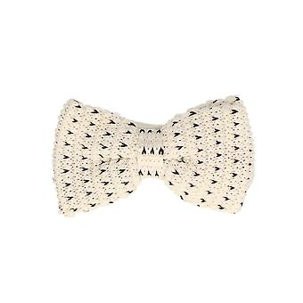 Marcell Sanders men fly loop tie cotton knitted look bound white