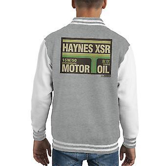 Varsity Jacket Haynes marca XSR Tokyo olio motore capretto