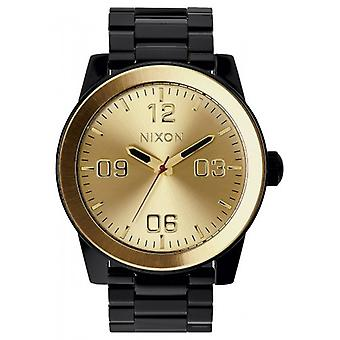 Nixon The Corporal SS Watch - Black/Gold