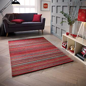 Tapis Plain Carter rouge Rectangle tapis Plain/presque