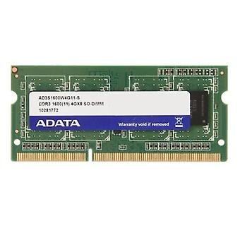 ADATA Premier 4GB, DDR3, 1600 MHz (PC3-12800), CL11, SODIMM Memory Single Rank