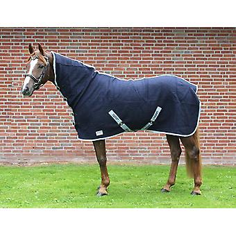 QHP Collared wool blanket Blue (Horses , Horse riding equipment , Bed covers , Midseason)
