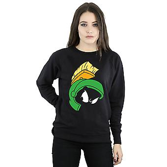 Looney Tunes Women's Marvin the Martian Face Sweatshirt