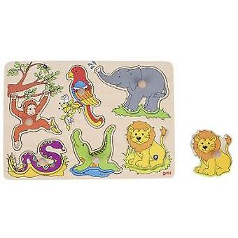 Goki Sound-puzzle, zoo animals, with animal voices (Toys , Preschool , Puzzles And Blocs)