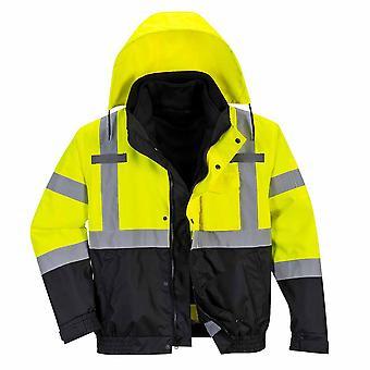 Portwest - Hi-Vis Safety Premium 3-in-1 Work Bomber Jacket
