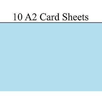 10 Sky Blue A2 Card Sheets for Crafts | Coloured Card for Crafts