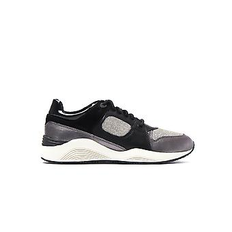 Women's D Omaya Trainers - Black Leather