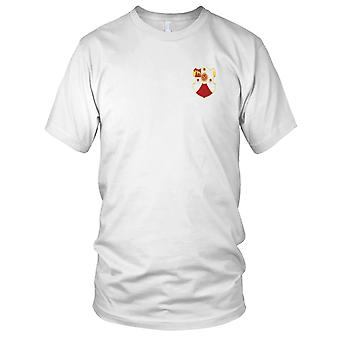 US Army - 24th Field Artillery Regiment Embroidered Patch - Mens T Shirt